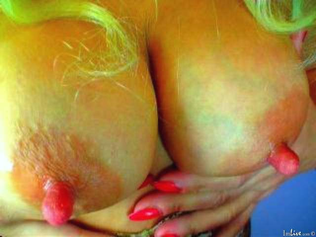 Blonde MILF pink nipples